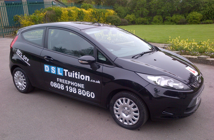 DSL Tuition driving instructor Ford Fiesta car - Cheap Driving Schools Lessons.